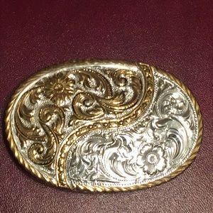 Crumrine Silver plated Belt buckle